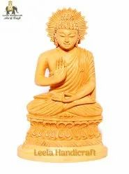 Wooden Blessing Buddha