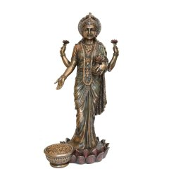 Laxmi Statue Copper Finsih