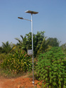 Swaged Solar Street Light Pole