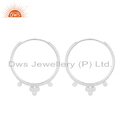 Handmade Fine Silver Bali Hoop Design Earrings Jewelry