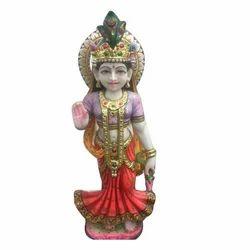 Marble Painted Radha Statue