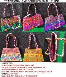 Indian Kutch Embroidered Jhola Bag - Rajasthani Tote Bag