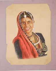 Rajasthani Lady Village Painting