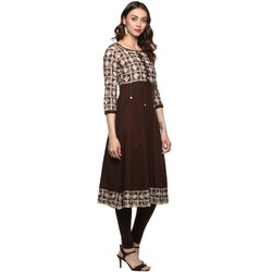 Yash Gallery Women's Cotton Anarkali Printed Kurta