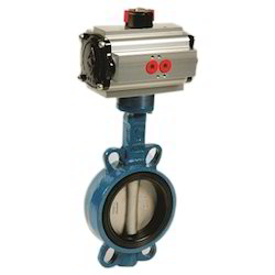Pneumatic Actuator Wafer Type Butterfly Valve