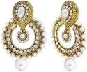Wedding Pearl Gold Plated Earrings, Packaging Type: Box