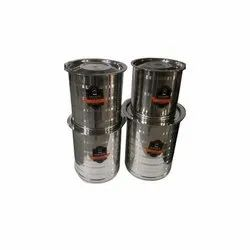 Silver Stainless Steel Container, Material Grade: SS304, Capacity: 10 L