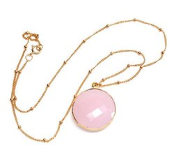 Rose Chalcedony Gemstone Necklace