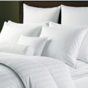 Bed White Pillows