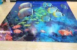Fish Digital Print Glass