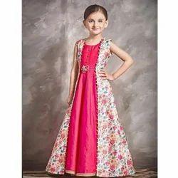 Chiffon Party Wear Kids Designer Gown
