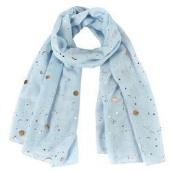 Scarf Gold Foil - Light Blue