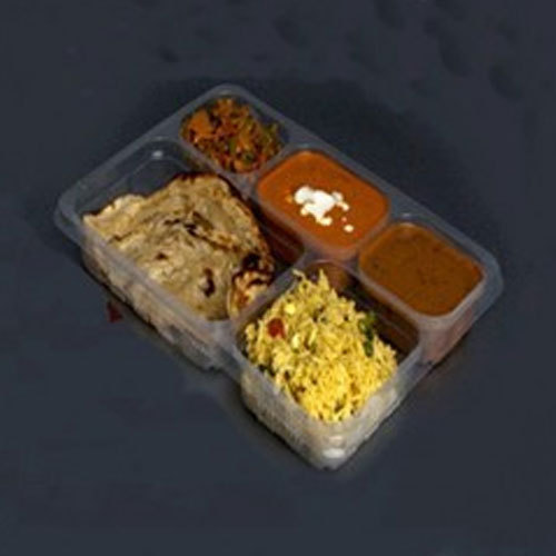 Disposable Food Tray - Disposable 5 Compartment Thali For