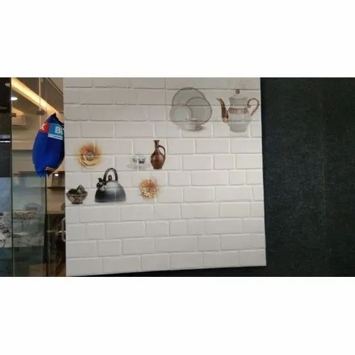 Ceramic Kitchen Wall Tiles, Thickness: 10 - 12 mm, Packaging Type: Box