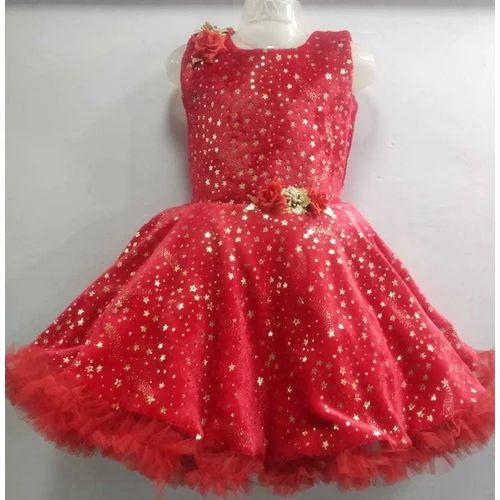 d0c8e129bd99 Festive Wear Fair Fur Baby Girl Red Designer Frock, Size: 16-26, Rs ...
