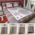 Jaipuri Floral Printed Bed Sheet