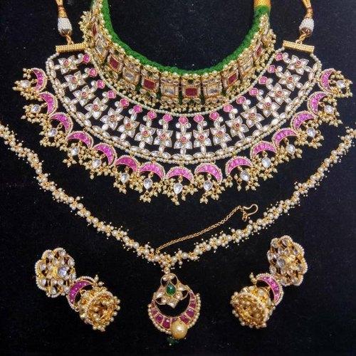 876ba7a56fb6d Bridal Necklace Set, Artificial And Metal Necklaces | Mangal ...