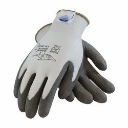 Cut Resistance White Grey Gloves