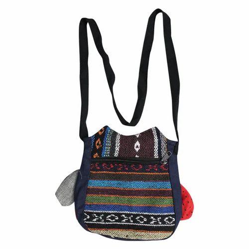 9dfc9d1eb0f2 Cotton Canvas Funky Sling Bag