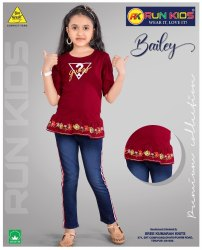 runkids 3/4Th Sleeves Girls Top