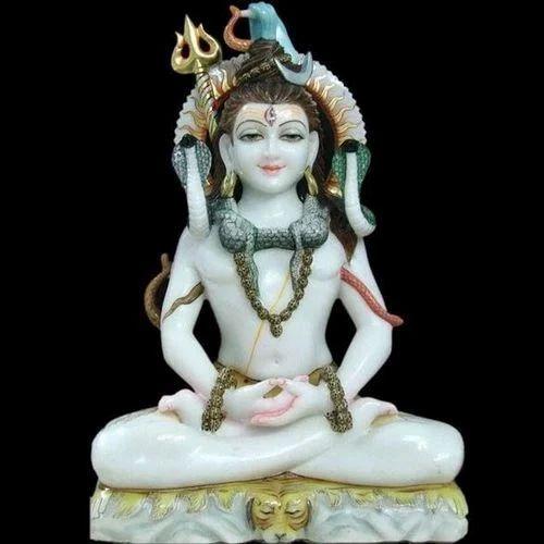 Mahadev Marble Statue