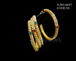 Antique Pearl Traditional Bangles