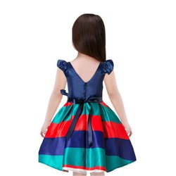 Crepe Multicolor Baby Girl Party Wear Frock