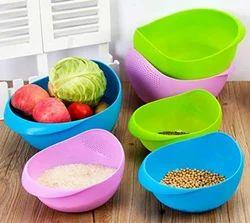 SRK Internationals Multicolor Rice Or Fruit & Vegetable Bowl, Size: Small