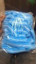 Blue Non Woven Head cap, Quantity Per Pack: 100, Size: Universal