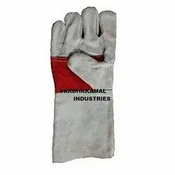 灰色皮革红棕榈手手套,为工业,大小:14英寸