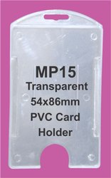 Vertical Transparent PVC Card Holders