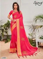 Designer Fancy Sana Silk Patta Saree