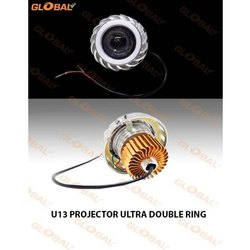 10 W Plastic U13 Motorcycle Projector Ultra Double Ring Headlight