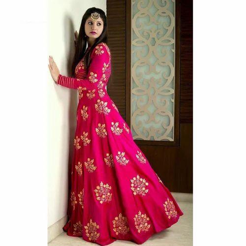 Designer Long Gown at Rs 999 /piece | Parvat Patiya | Surat | ID ...