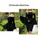 Off-Shoulder Black Dress