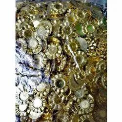 Round K.M.B Decorative Golden Metalized Plastic Beads