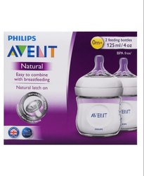 Philips Avent Natural Bottle, 125ml- Pack of 2