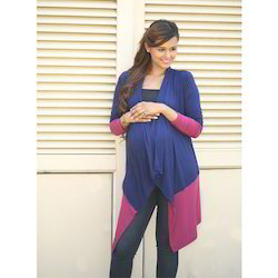 22333f08fb Pink Contrast Stretch Maternity Cardigan at Rs 2399 /piece ...
