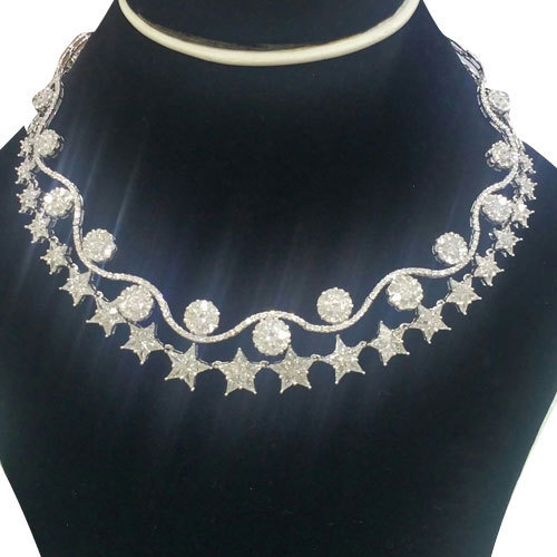 57d4746337f315 Fancy Diamond Necklace Set at Rs 2000000 /set   Diamond Necklace Set ...