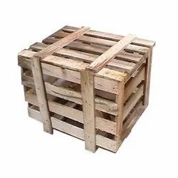 Cuboid Brown Wooden Packaging Box, For Storage, Box Capacity: 201-400 Kg