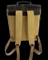 Flap Closure Leather Canvas Backpack