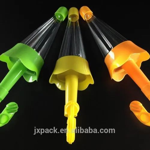 Colorful plastic umbrella bottle for candy