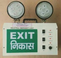 Industrial Emergency LED Lights with EXIT Sign  (LED Model _2_EN_GREEN)