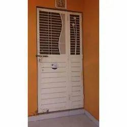 White Iron Safety Door