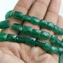 Green Onyx Square Rectangle Faceted Beads