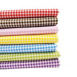Dyed Checks Design HDPE and PP Woven Fabrics, GSM: 250-300