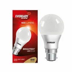 Aluminum Round Eveready LED Bulb, Base Type: B22D