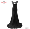 Black Sheath Chiffon Women Party Dress