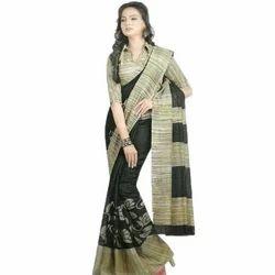 e7b187a8b672f Handloom Linen Chanderi Sarees With Kalamkari Prints at Rs 850 ...