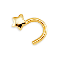 Ladies Yellow Gold Nose Ring